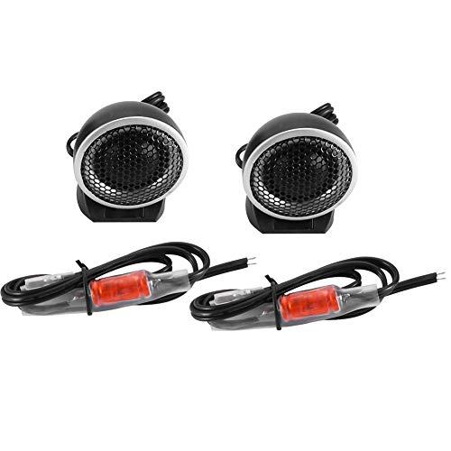 SANON 2Pcs Coche Altavoz de Audio Fuerte Cúpula Portátil Altavoz de Agudos Bocina 150W