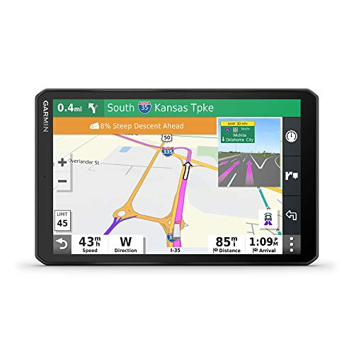 Garmin dezl OTR800, 8-inch GPS Truck Navigator, Easy-to-Read Touchscreen Display, Custom Truck Routing and Load-to-Dock Guidance