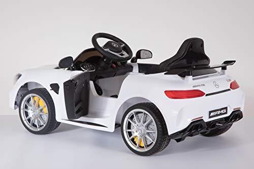 RC Auto kaufen Kinderauto Bild 4: Shov Mercedes Benz GTR AMG Kinderauto Elektroauto Kinderfahrzeug 12V (Weiss)*