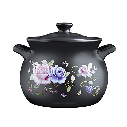 Faitout Casserole en céramique Cocotte feu ouvert Pot à haute température marmite à soupe santé Casserole grande capacité Casserole 2.7L, 3.9L, 5L, 6L cocotte staub (Size : 3.9L)