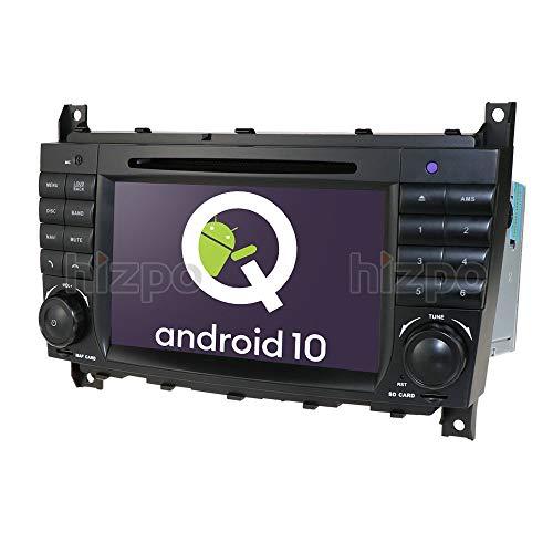 7-Zoll-Autoradio-DVD-Player der mit der Mercedes-Benz C-Klasse W203 CLK W209 kompatibel ist, unterstützt GPS-Navigation, DAB +, BT, RDS-Radio, Mirror Link, SWC, OBD2, DVR