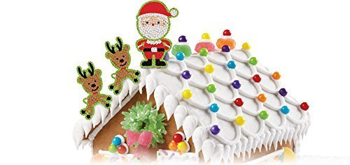 Wilton 710-3480 Christmas Santa and Elves Icing Decorations by Wilton Industries