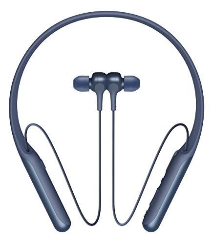 Sony WI-C600N - Auriculares Neckband inalámbricos (Bluetooth, Noise Cancelling con Inteligencia Artificial de una pulsación (AINC), Modo Sonido Ambiente para no perderte ningún Sonido Esencial) Azul