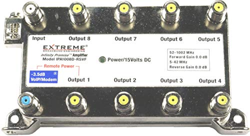 Extreme Broadband IPA1008D-RSVF - 8 Way Splitter