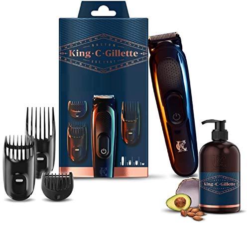 King C. Gillette Recortadora de Barba y Cortapelos Inalámbrica, con Cuchillas y...