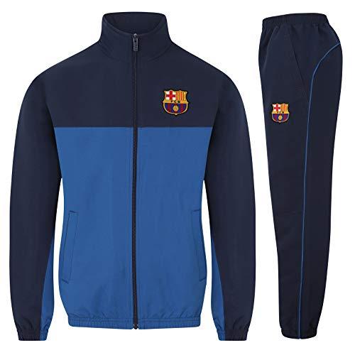 FC Barcelona - Jungen Trainingsanzug - Jacke & Hose - Offizielles Merchandise - Geschenk für Fußballfans - Reflexblau - 8-9 Jahre