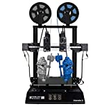 TENLOG Hands 2 Independent Dual Extruder 3D Printer,300 Degree high Temperature Nozzle,Upgrade Borosilicate Glass Bed and Silent Mainboards TMC2208 Drive Support PVA TPU PLA ABS 8.6''x8.6''x9.8''