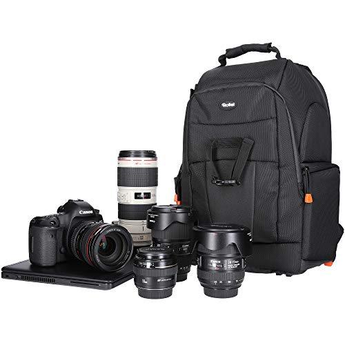 Rollei Fotoliner Fotorucksack M (großer Kamerarucksack (Daypack) mit Schnellzugriff, Laptop-Fach,...