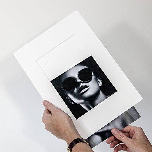 Passepartout Präsentation Reinweiß Rückwand - Foto Einschub - Aufbewahrung - Archivieren - Präsentieren - Museumsqualität - Klapp (Außen: 30x40cm - für Foto: 20x30cm)