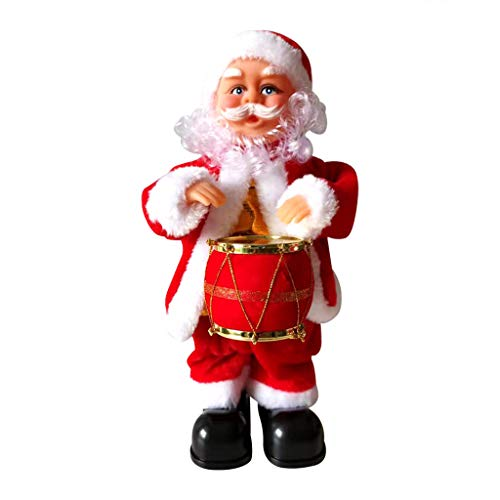 Christmas Hanging Ornaments,Jchen Electric Christmas Guitar Music Santa Claus Decoration Ornament Best Gifts for Your Kids Christmas New Year (C)