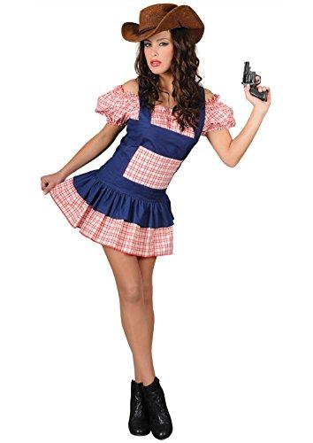 Disfraz Chica Saloon Falda Corta