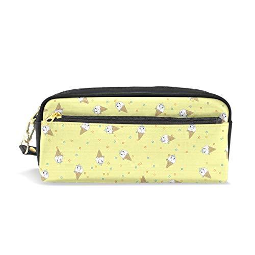 Étui à stylo Stationnaire Abstrait Crème Glacée Licorne Crayon Sacs Pochette Portable pour Enfants Scolaires Sac Cosmétique Maquillage Beauté Cas