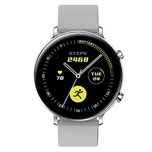 Hainice Llamadas Inteligente Aptitud del Reloj del perseguidor Impermeable de la Venda Inteligente GW33 Bluetooth Pulsera Deportes SmartWatch Hombres Mujeres Blanco
