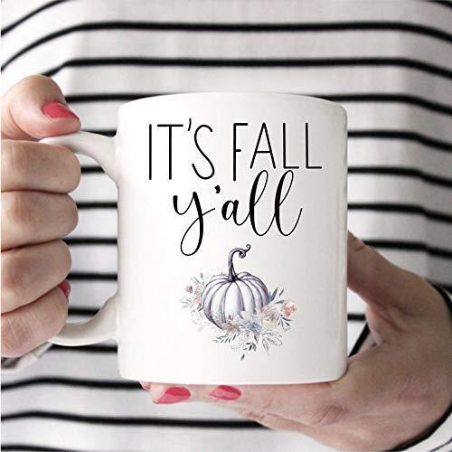 The Red Circle – It's Fall Yall, regalo para otoño, decoración de otoño, taza de regalo para ella, bonita taza de otoño, regalo de otoño, taza de café, taza de 325 ml