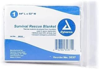 Dynarex MS80810 Aluminized Thermal Rescue Blanket, 84