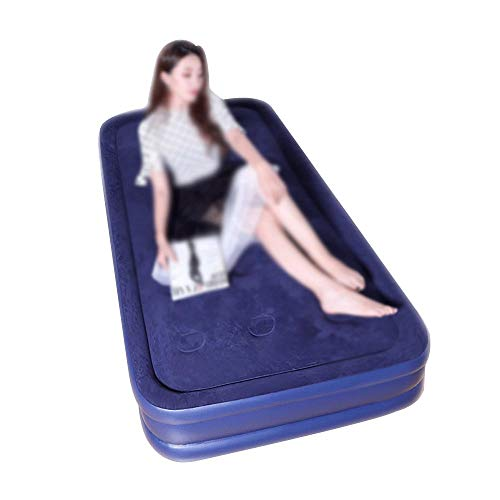 BRFDC Lazy Sofa Meditationsstuhl Einzelhaushalts-Luftbett | Dickes faules Doppelschicht-aufblasbares Sofa Auto aufblasbares Bett | 190 × 95 × 42 cm | Kann 140kg tragen (Farbe : with Electric Pump)