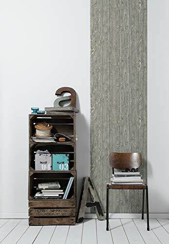 Livingwalls selbstklebendes Panel Pop.up Panel 3D  in maritimer Vintage Holz Optik 2,50 m x 0,52 m grau beige Made in Germany 368521 36852-1