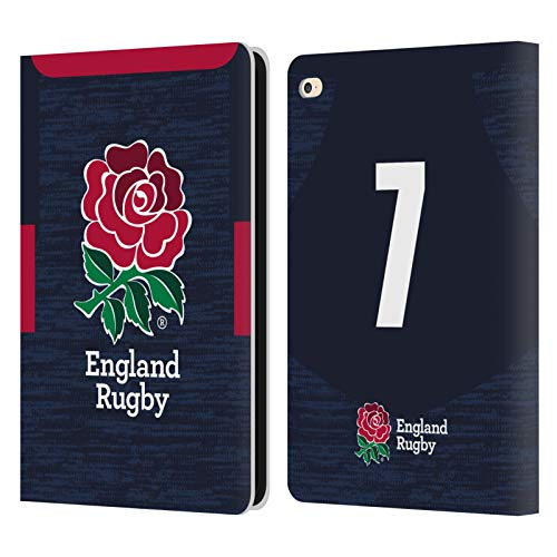 Official England Rugby Union Position 7 2020/21 Players Away Kit Leather Book Wallet Case Cover Compatible For Apple iPad Air 2 (2014)