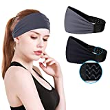 Workout Headbands For Women & Men - Non Slip Sweatband,Durable, Breathable With Silicone Grippy...