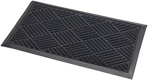 Addis Thirsk Deurmat Zeer absorberend 100% Polypropyleen Parket Design Pile-70 x 40 cm-Zwart, 70_x_40_cm