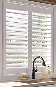 PLANTATION SHUTTERS-INTERIOR WINDOW COVERING -CUSTOM MADE IN 10 DAYS-DIY INSTALL-SAVE $$$-EASY TO CLEAN-MADE IN USA-DURABLE-BETTER THAN WOOD SHUTTERS-NEVER NEEDS PAINTING- 25 YEAR WARRANTY-HIDDEN TILT