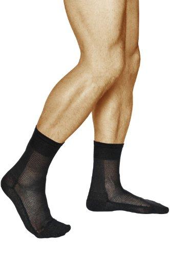vitsocks SILBER-Baumwolle Herren Socken antibakteriell (3x PACK) atmungsaktiv, frische Füße, schwarz, 42-43
