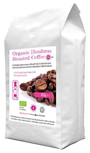 PINK SUN Biologische Gemalen Koffie 450g Espressomaker Filter Arabica Gemiddeld Sterk Gebraden Mix 4 Organic Ground Coffee