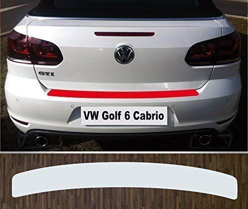 passgenau für Golf 6 Cabriolet, ab 2011, Lackschutzfolie Ladekantenschutztransparent