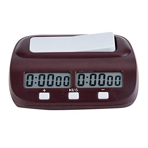Demeras Temporizador de ajedrez Reloj de ajedrez Digital Leap Profesional Pantalla de Alta definición Temporizador electrónico portátil