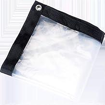 Rainproof Cloth Transparent Plastic Sheet 5 ft x 8 ft Tarpaulin with Grommets and Reinforced Edges, Rain Insulation Sunscr...