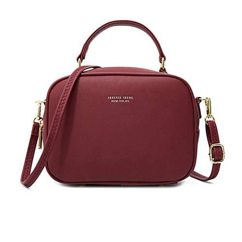 Fascigirl Lady Faux Leather Handbag Fahion Zipper Work Shoulder Bag Satchel Bag Top Handle Bag Crossbody Bag