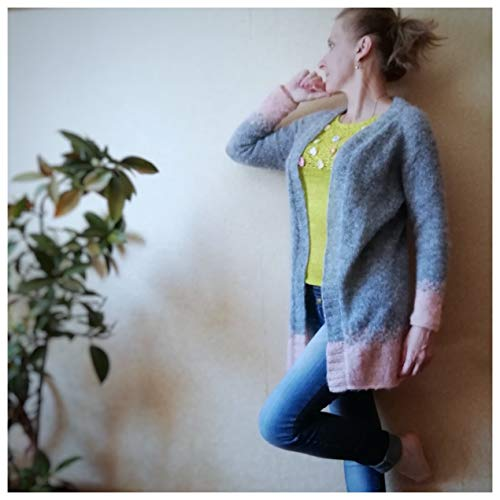 Hand knit Mohair women bridal cozy Light sweater Teal Loose knit Wool sweater