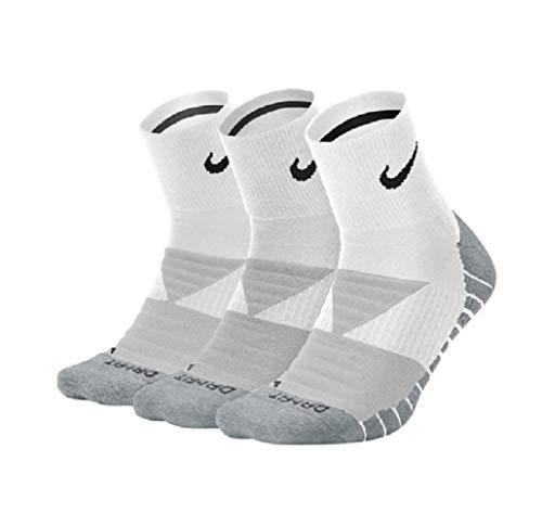 Nike Everyday Max Cushion Quarter - Calcetines de entrenamiento (3 unidades) negro/blanco S