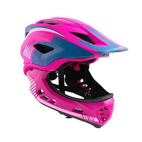 Casco moto niño 2-4 años, casco de bicicleta infantil con mentonera desmontable,...