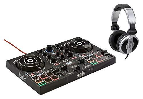 Hercules DJ Control Inpulse 200 Set (2 Deck Controller mit DJUCED-Software inkl. DJ-Kopfhörer)