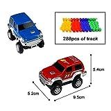 Car Track mit 2 Electric Auto Eisenbahn Autorennbahnen Montage Spielzeug Rennbahn Spiel Set für Kinder,505 CM Länge - 7