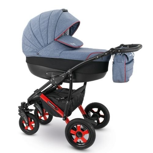 Camarelo SEVILLA Kombikinderwagen - Kinderwagen - Buggy Farbe XSE-6 grau melange/schwarz
