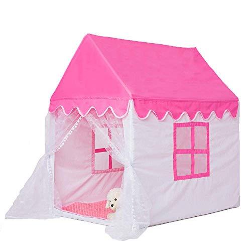MZH HZHASDF Regalo para niños Juguetes para niños Pequeña Carpa al Aire Libre Salida con Sombra Casa Cama de bebé Mosquito Carpas de algodón, Rosa