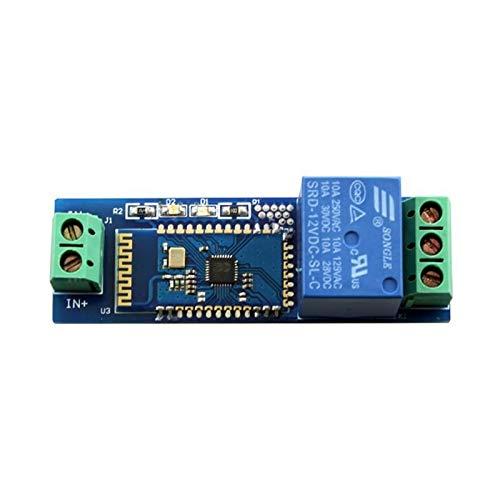 Tablero de relé Módulo de relé de Internet Bluetooth remoto inteligente del interruptor de teléfono móvil DC12V control inalámbrico de retransmisión de componentes del módulo Para control de automatiz