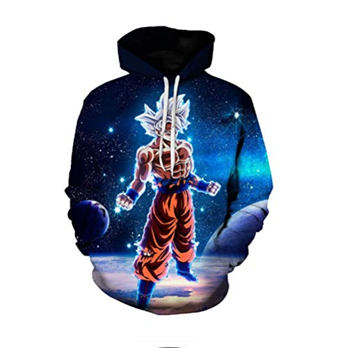 Unisex Dragon Ball Super Goku Cosplay Sweater Sweat-Shirt Sweat Pullover Costume Sweatshirt Veste Manteau for Anime Manga Carnaval Deguisement,B,6XL