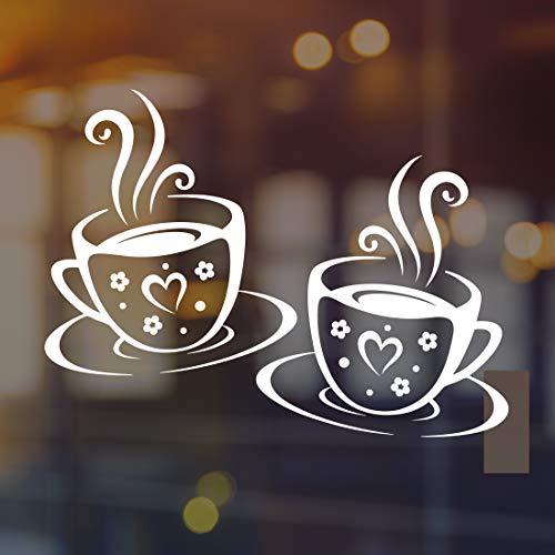 Tazas pegatinas de pared arte de cocina de vinilo de café calcomanía de decoración de la taza de azulejos blancos de transferencia pegatinas de la cita de la decoración del té, el café, el hogar
