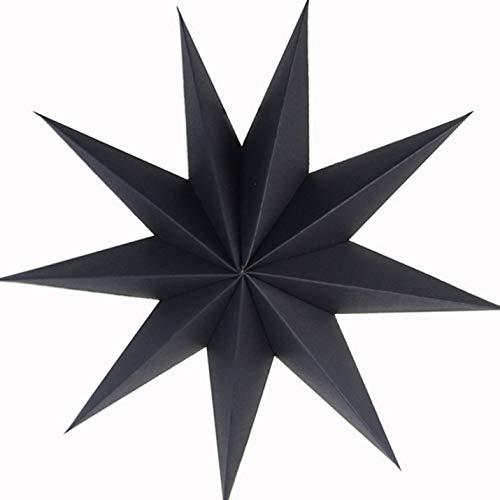 eshahuiriy Außergewöhnliche Papiersterne Origami neunzackiger Stern Lampenschirm Sterne Ornamente Weihnachten Familie Dekoration Basteln BK
