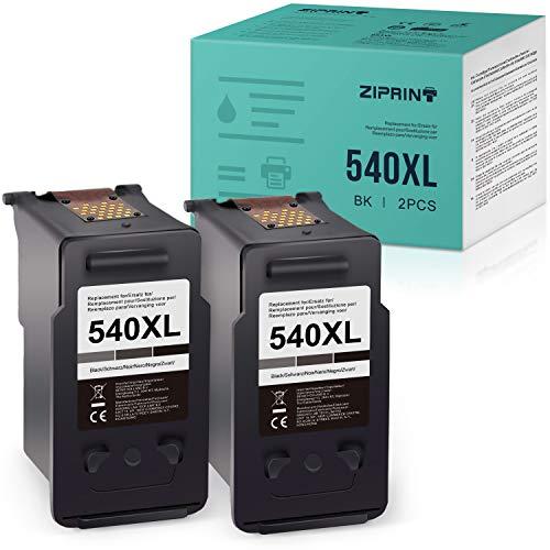 ZIPRINT Kompatibel Canon PG-540 PG-540XL Druckerpatrone für Canon Pixma MG4250 Pixma TS5150 Canon MX455 MG3150 MG3250 MG3550 MG4150 MG4250 MX375 MX395 MX435 MX515 MX525 TS5151 Drucker(2 Schwarz)