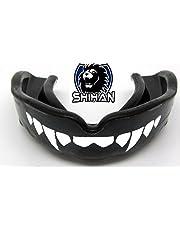 Junior Negro Sensei J Firma Protector Bucal ' Fangs-Teeth - 'Junior', Mma , Rugy , UFC Lucha Protector Bucal Bjj ,Hockey,Patinaje sobre Hielo ,Voleibol, Fútbol, Judo, Jiu Jitsu