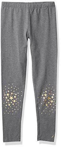 Nautica Girls' Fashion Leggings, F20 Star Charcoal Heather, 6X