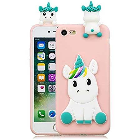 HopMore Compatibile con Cover iPhone SE 2020 / iPhone 7 / iPhone 8 Silicone Disegni 3D Divertenti Fantasia Gomma Morbido Custodia Antiurto Protettiva ...