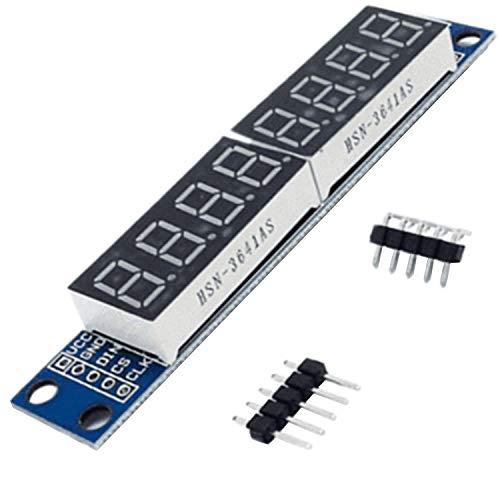 AZDelivery MAX7219 Led Module TM1637 8 Bit 7 Segments à LED compatible avec Arduino et Raspberry Pi y compris un eBook