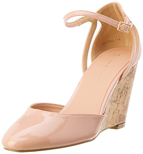 New Look Damen Uprightie 2 Riemchen Pumps, Beige (Oatmeal 14), 39.5 EU (6 UK)