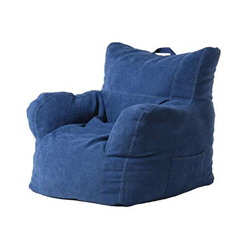 AGVER Faule Abdeckungen mit Erwachsener Rückenlehne und kinderweicher Lounger bequem ohne Füllung mit seitlichen Taschen 80 * 78 * 63 cm