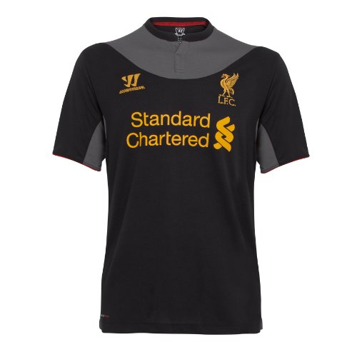 Warrior - Camiseta Deportiva (Manga Corta), diseño del Liverpool Black/Raven Grey Talla:Mediano